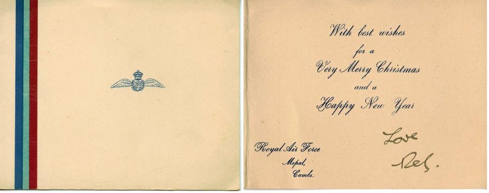 RAF Mepal Xmas Card 1944 - COMP