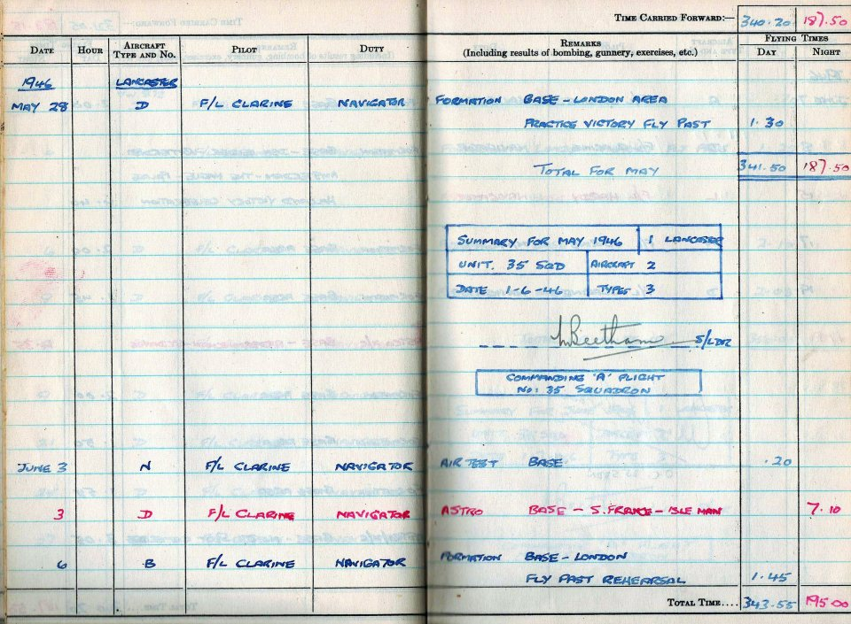 RC Weeden - Logbook 1946 - Page 05