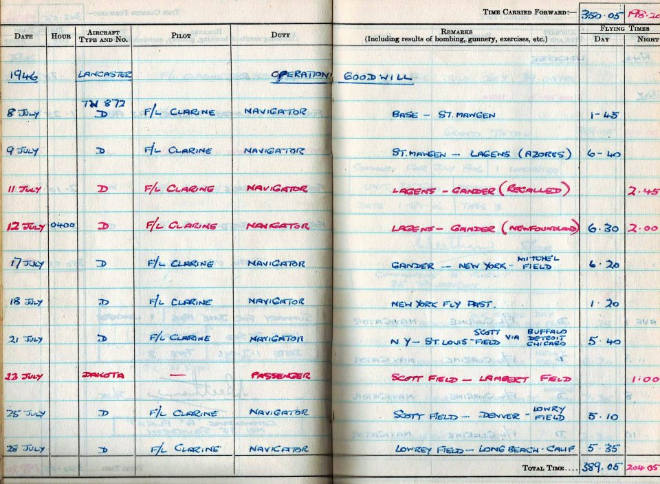 RC Weeden - Logbook 1946 - Page 07 - Operation Goodwill