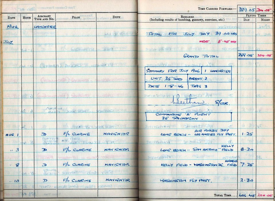 RC Weeden - Logbook 1946 - Page 08 - Operation Goodwill