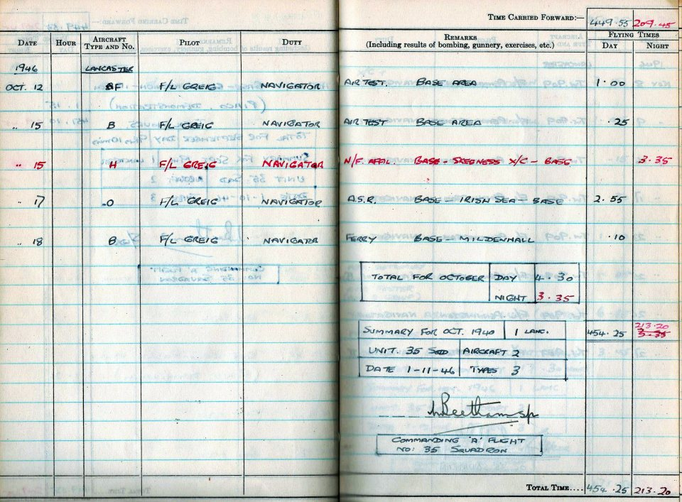 RC Weeden - Logbook 1946 - Page 13