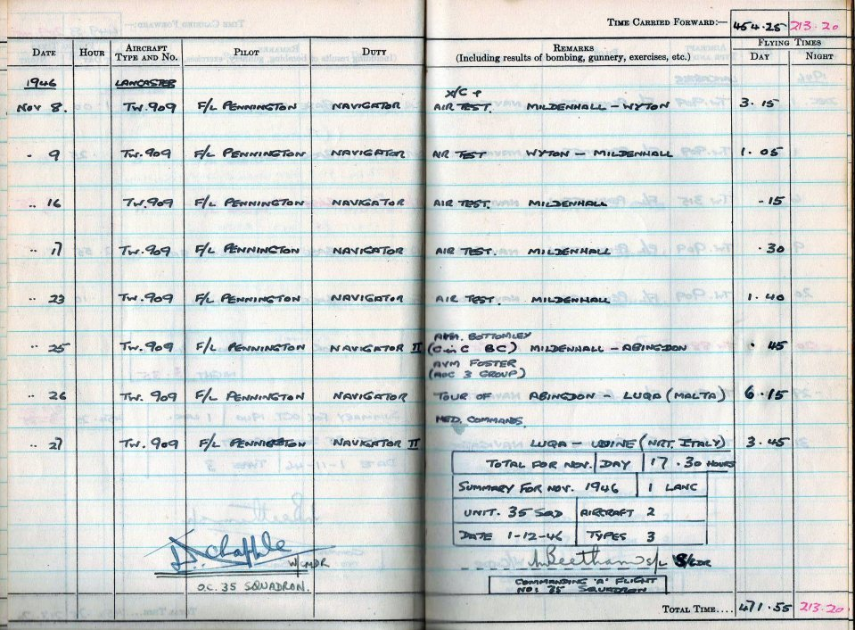 RC Weeden - Logbook 1946 - Page 14