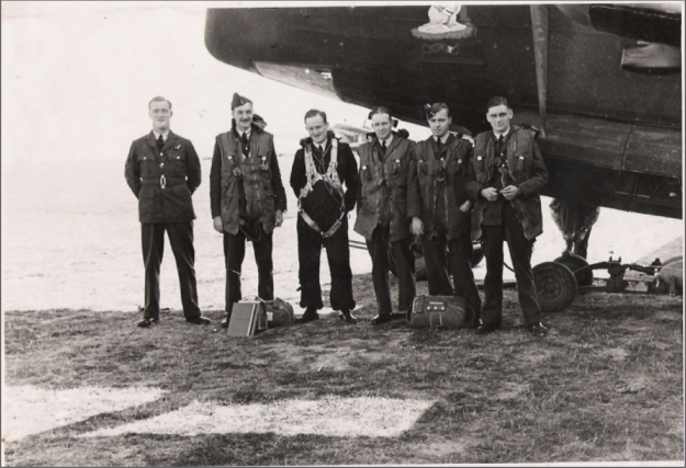BP McNamara crew Brian 4th from left aircraft