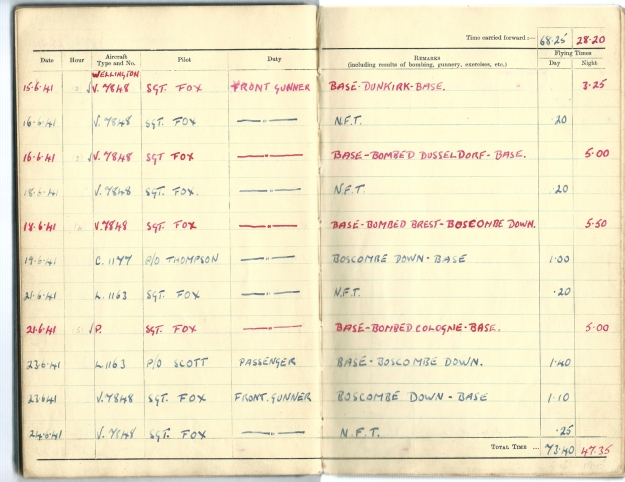 0002 Flight log Jun 1941 p2