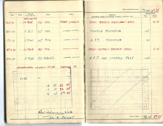 0003 Flight log Jun 1941 p3