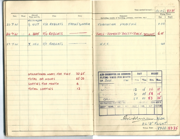 0005 Flight log Jul 1941 p2