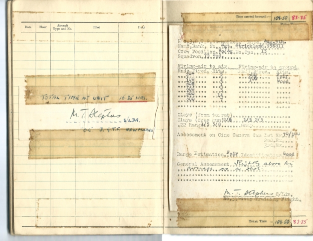 0008 Flight log Aug 1941 p3 (results of course)