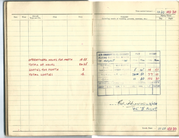 0010 Flight log Aug 1941 p5