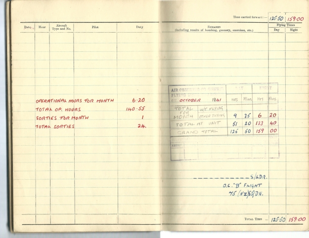 0014 Flight log Oct 1941 p2