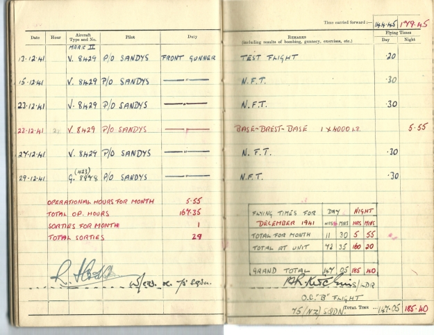 0018 Flight log Dec 1941 p2