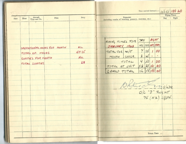 0020 Flight log Jan 1942 p2