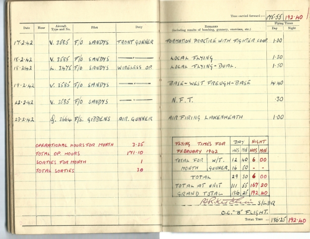 0022 Flight log Feb 1942 p2
