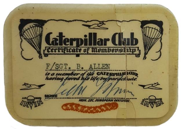 Bills catepillar club card crpd