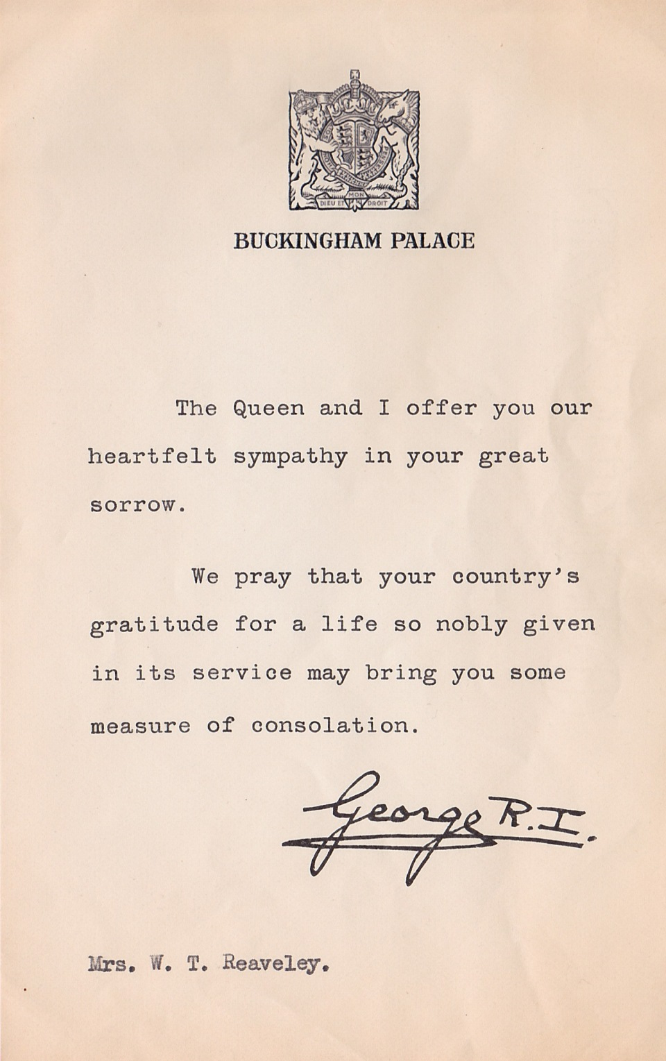 letter-from-king-george-to-lillian-reaveley