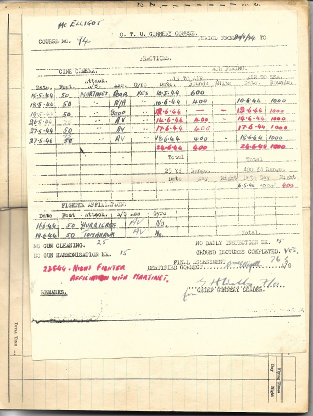 log book mcelligott 7