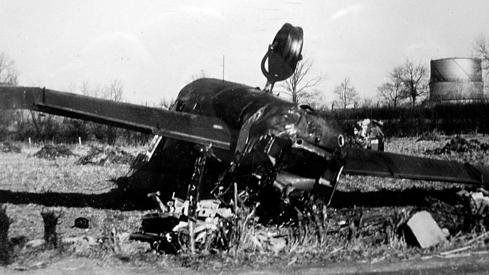ME450 crash site outside Chatteris February 1945