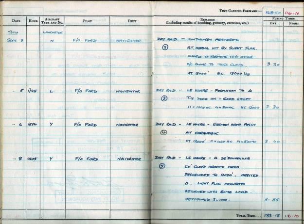RC Weeden - Logbook - MEPAL Page 02 (Missions 2-5)
