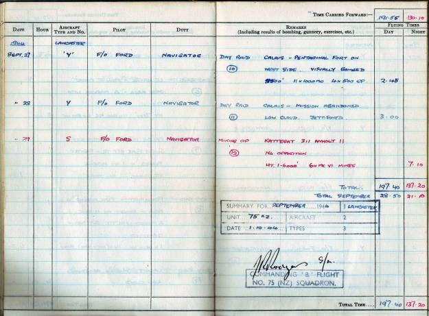 RC Weeden - Logbook - MEPAL Page 04 (Missions 10-12)