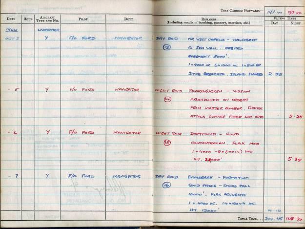 RC Weeden - Logbook - MEPAL Page 05 (Missions 13-16)