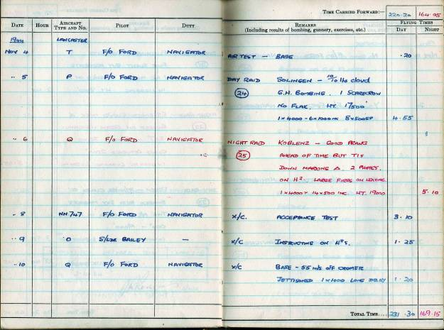 RC Weeden - Logbook - MEPAL Page 08 (Missions 24-25)