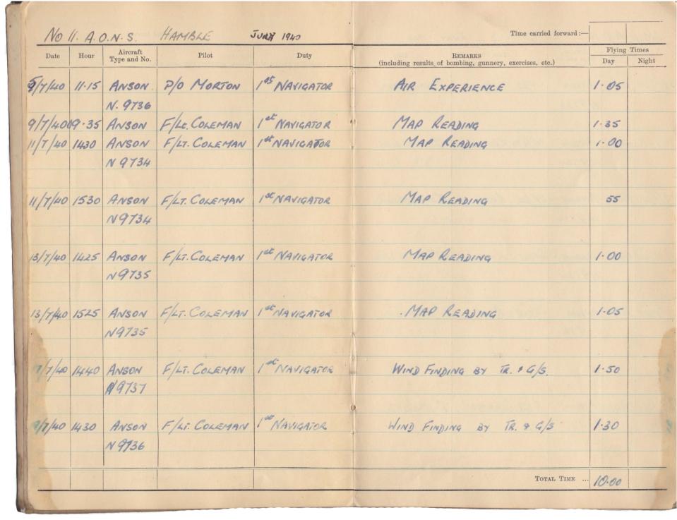 Gwyn Martin logbook 005