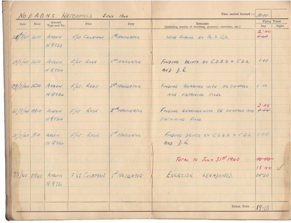 Gwyn Martin logbook 006