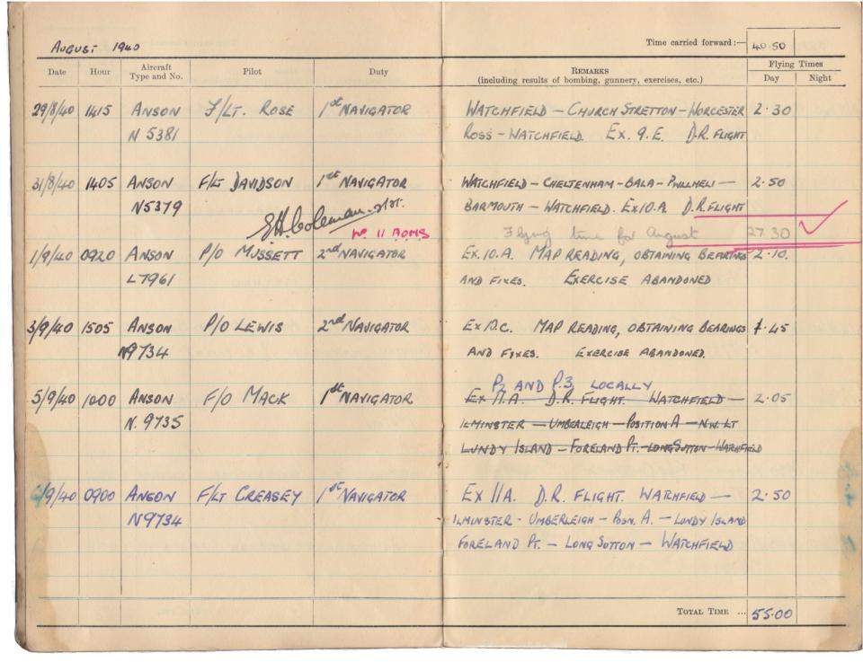 Gwyn Martin logbook 008