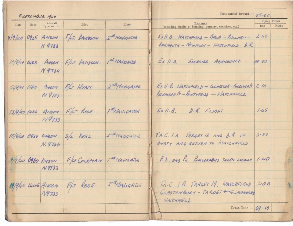 Gwyn Martin logbook 009