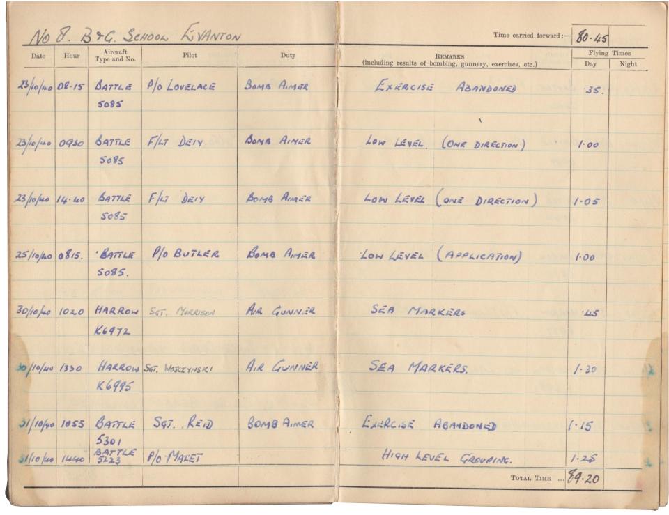 Gwyn Martin logbook 010