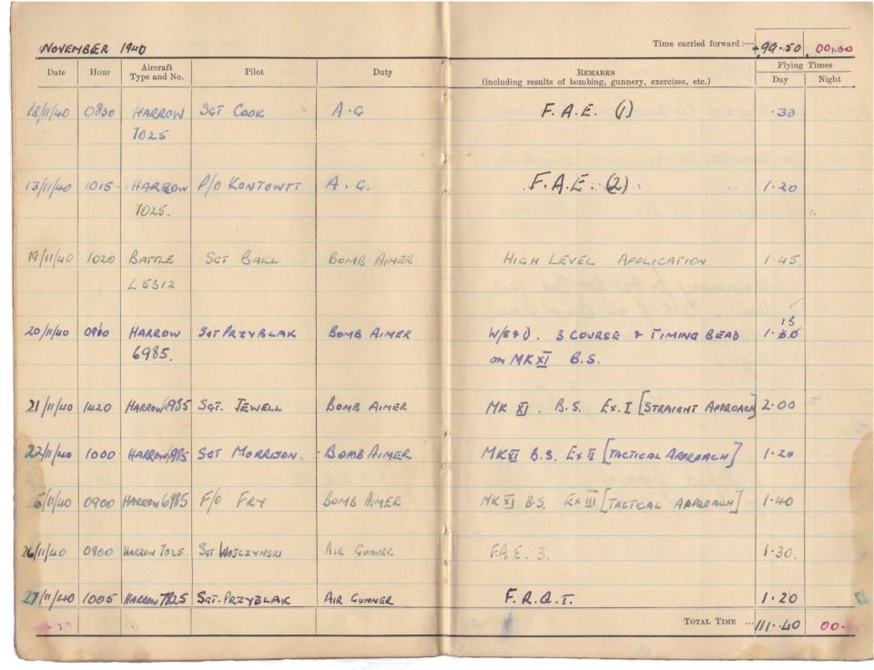 Gwyn Martin logbook 012
