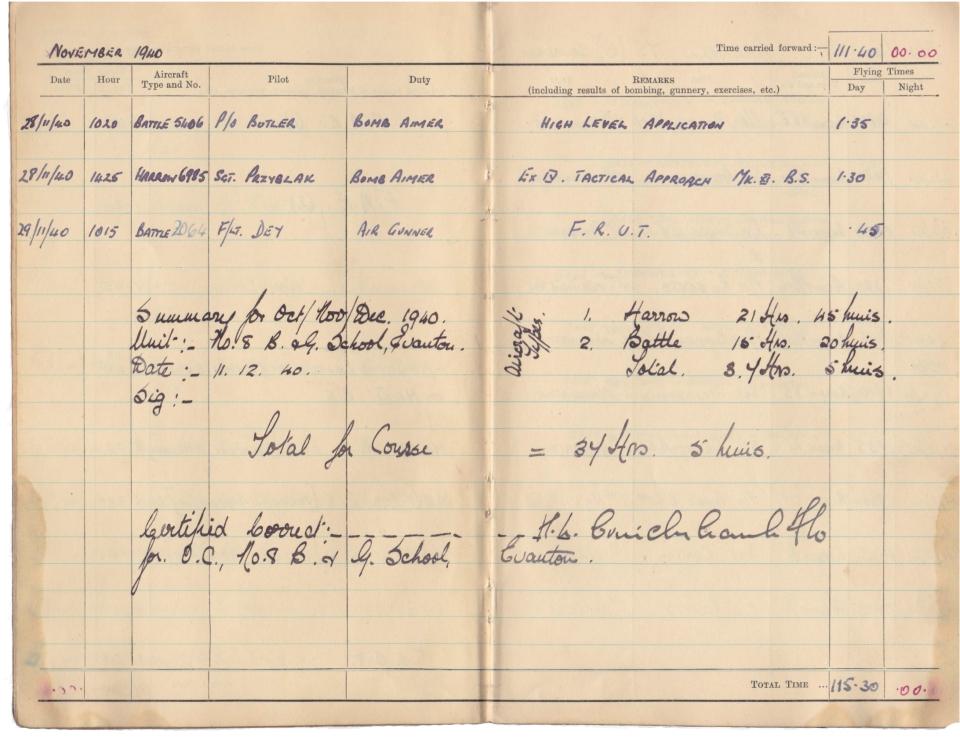 Gwyn Martin logbook 013