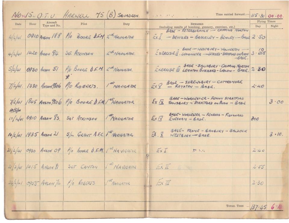 Gwyn Martin logbook 014