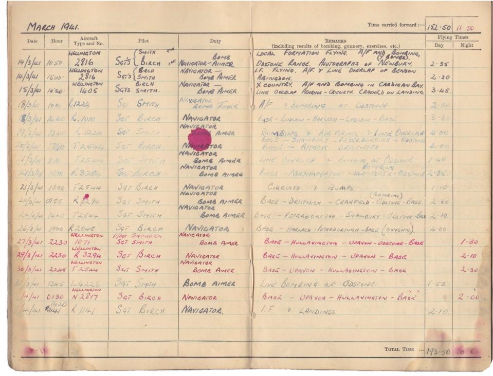 Gwyn Martin logbook 017