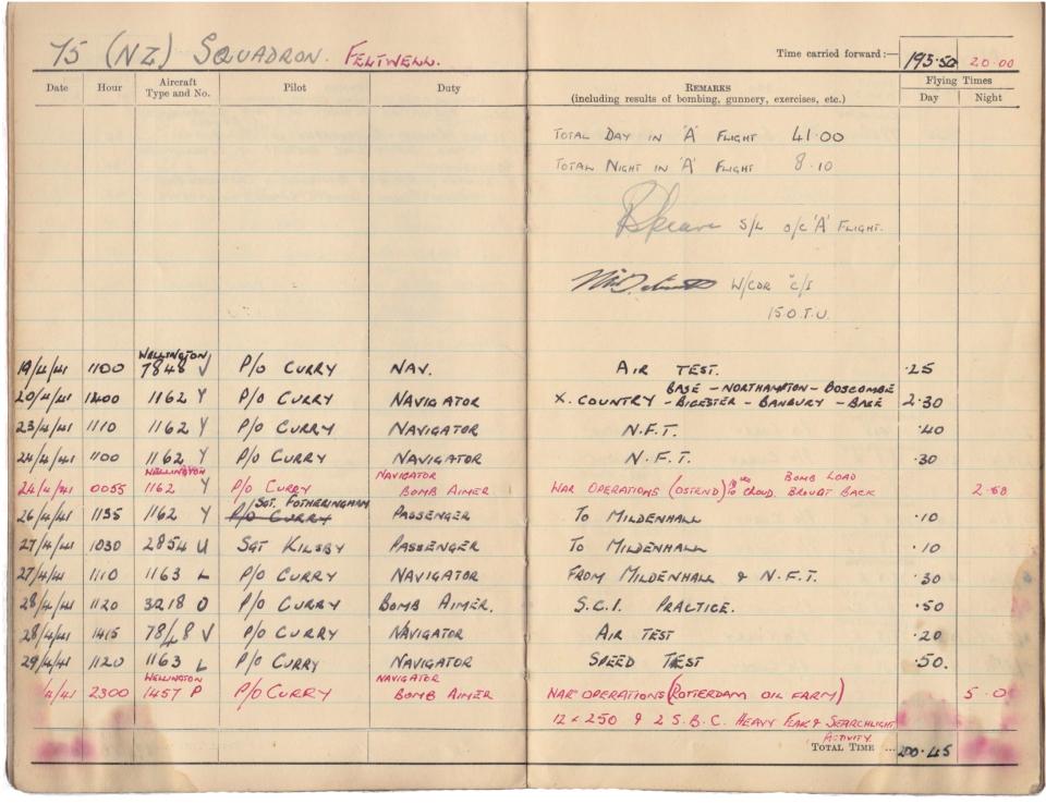 Gwyn Martin logbook 018