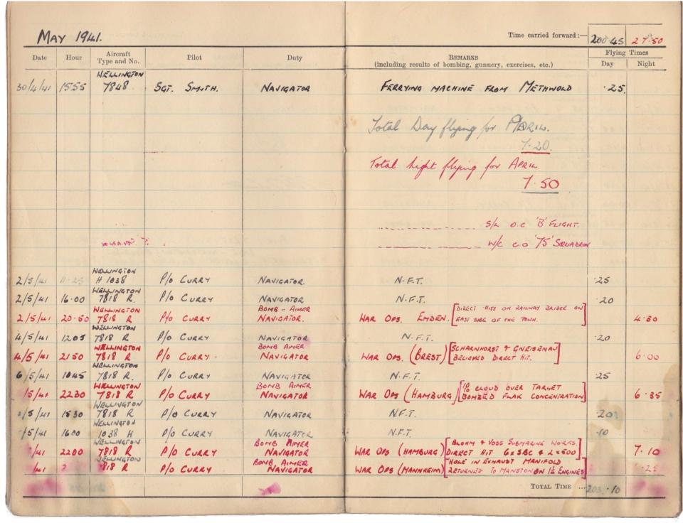 Gwyn Martin logbook 019