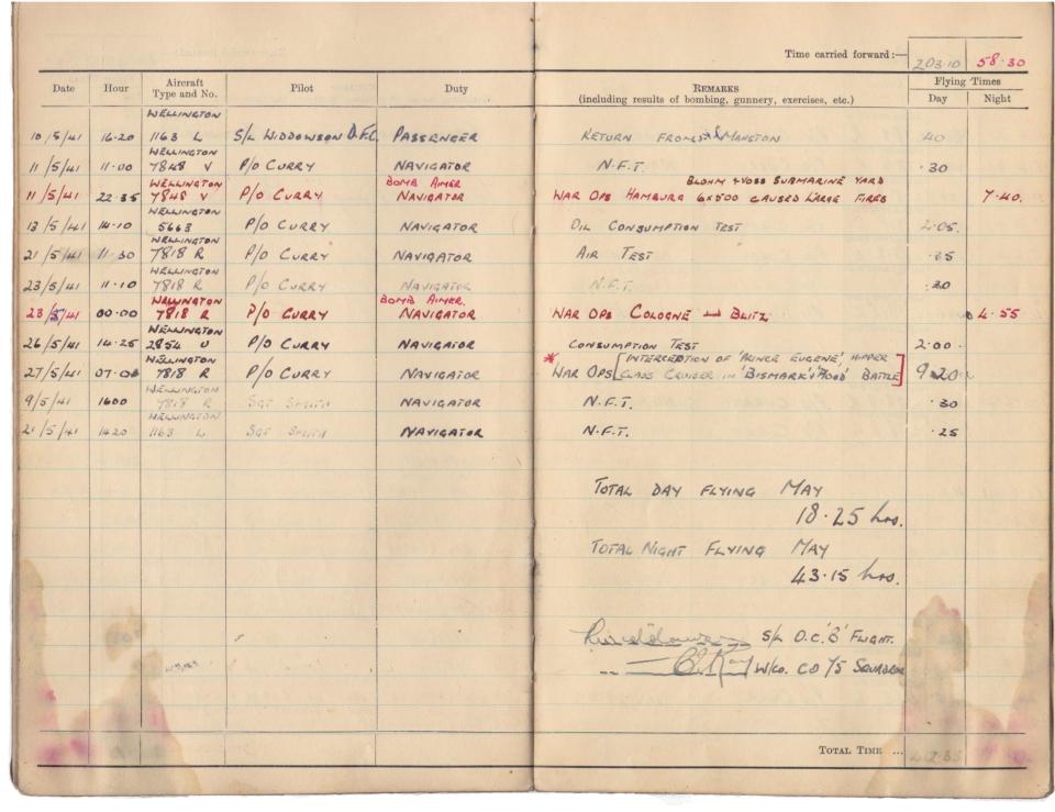 Gwyn Martin logbook 020