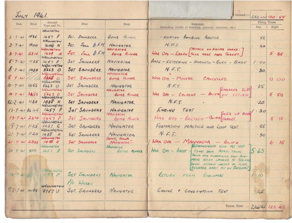 Gwyn Martin logbook 023