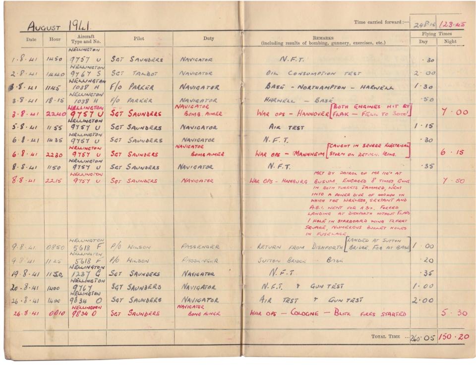 Gwyn Martin logbook 026
