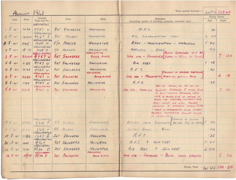 Gwyn Martin logbook 027