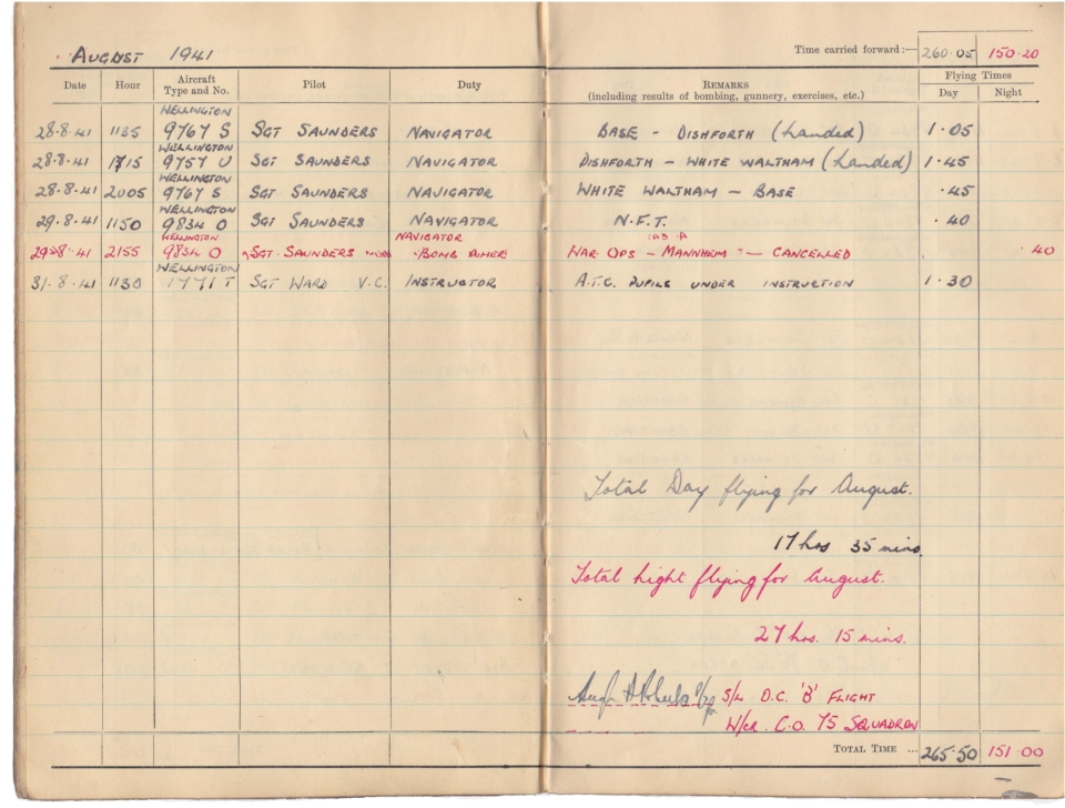 Gwyn Martin logbook 028