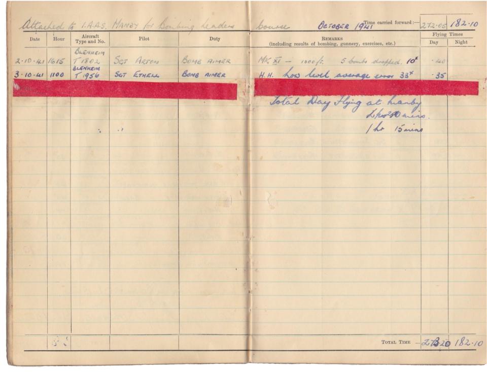 Gwyn Martin logbook 030