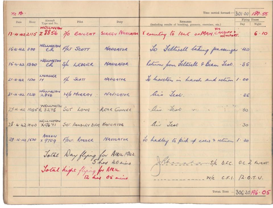 Gwyn Martin logbook 035