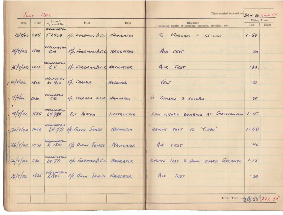 Gwyn Martin logbook 042