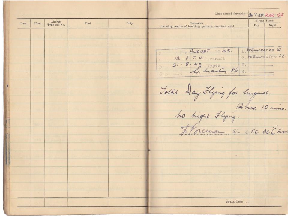 Gwyn Martin logbook 045