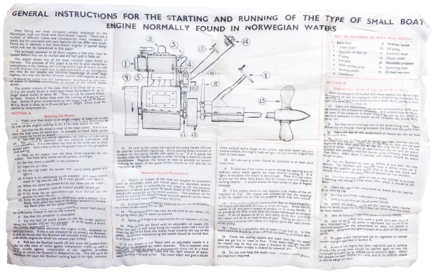 Instructions for Starting Boat Motor, Norway without shadow