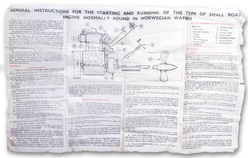 Instructions for Starting Boat Motor, Norway | 75(nz)squadron